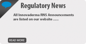 Innovaderma PLC Regulatory News