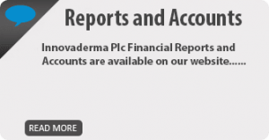 Innovaderma PLC reports and accounts